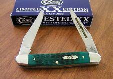 CASE XX New Limited Edition Series 31 Jade Green Bone 2 Bld Muskrat Knife/Knives