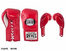 Authentic Cleto Reyes red leather traditional 10oz contest gloves
