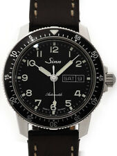Sinn Pilot Watch 104.ST.SA.A SS Leather Black Dial Auto Mens Germany MC #1710