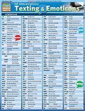 Im Abbreviations, Texting & Emoticons (Quickstudy: Computer), BarCharts, Inc., V