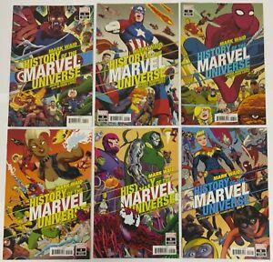 History of The Marvel Universe 6 Issue Mini-Series Set Variant Covers Mark Waid