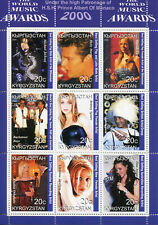 Kyrgyzstan 2000 MNH Music Awards Britney Spears Michael Jackson 9v M/S Stamps