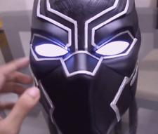 Black Panther Cosplay LED Eyes Mask Superhero Light Up Black Silver Unisex Adult