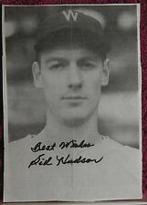 AUTOGRAPHED>B&W>PHOTO>NEWSPAPER CLIPPING>MLB>BASEBALL PLAYER> SID HUDSON