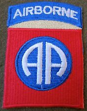 WWII US 82ND AIRBORNE PARATROOPER SLEEVE DIVISION INSIGNIA PATCH-KHAKI