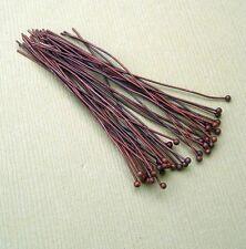 100pcs-Ball Headpins Copper Color - 2inch 24ga.