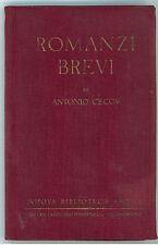 CECOV ANTONIO ROMANZI BREVI TREVES 1932  NUOVA BIBLIOTECA AMENA 15