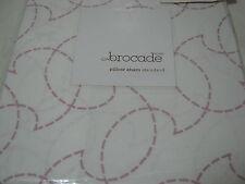 New Brocade Home Stitch Rose Standard Pillow Sham ~ Mauve Nip