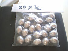 EGG  LEAD FISHING WEIGHTS   20X  1/2  OF OZ