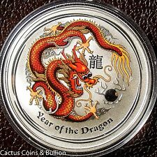 2012-P Australia Year Of The Dragon Colured Red & Yellow They Were On Sale But.