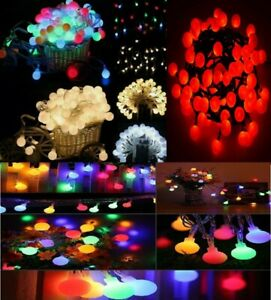 100/200/500 LED Berry Ball Xmas Bulb Fairy String Lights Outdoor/Indoor Mains