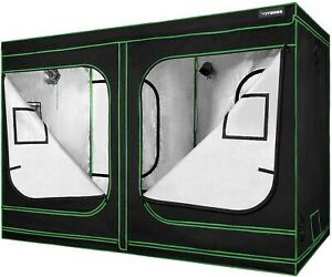"VIVOSUN 96""x48""x80"" Mylar Hydroponic Grow Tent  for Indoor Plant Growing 4'x8'"