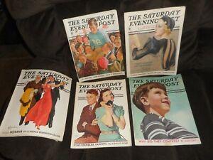 VINTAGE SATURDAY EVENING POST MAGAZINE LOT 1934-1939