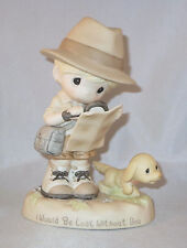 I Would Be Lost Without You Precious Moments Figurine Girl Dog Magnifying Glass