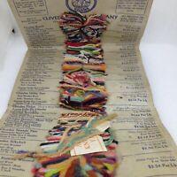 Vintage 1930s CLIVEDEN KNITTING YARNS Sample Card Philadelphia Pa