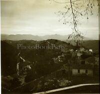 FRANCE ITALIE Paysage Montagnec1900, Photo Stereo Grande Plaque Verre