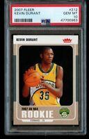 2007-08 Fleer Kevin Durant Rookie PSA 10 Gem Mint RC #212