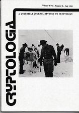 1 Cryptologia Quarterly Journal Cryptology Ciphers Codes Communication 1993