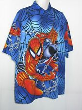 SPIDER-MAN  Changes Graphic Button Shirt S/L XL NWOT