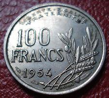 1954 FRANCE 100 FRANCS IN EF CONDITION