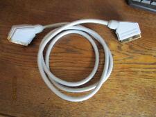 Scart Kabel silber mit vergoldeten Kontakten Länge ca. 1,4 m