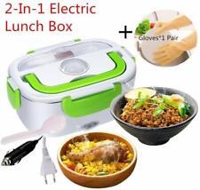 Boîte à Repas Lunch Box Tupperware Chauffant Électrique Inox 12V/220V 2 en 1