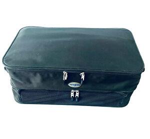 "Samsonite 24"" Light Weight Luggage Soft Case Large Storage Black with Lock & Key"
