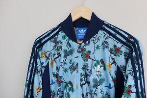 Adidas Originals Island Series Track AOP birds floral print jacket S Blue 2015