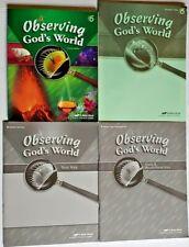Abeka Science Observing Gods World 6th Grade Teacher Quiz/Test Key CURRENT EDITI