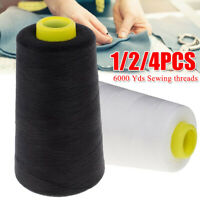 4pcs 6000 Yards Polyester Sewing Thread for Sewing Machine All Purpose