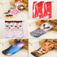 Unisex Men Women Fashion Ankle Socks Low Cut Cotton 3D Printed Animal