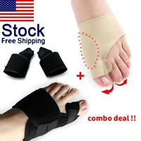 2Types Big Toe Bunion Splint Straightener Corrector Hallux Valgu Relief Pain US