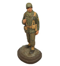 1988 Michael Garman WWII World War 2 Foot Soldier Signed Hand Painted Sculpture