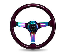 NRG 350MM CLASSIC STEERING WHEEL PURPLE WITH NEO CHROME SPOKES UNIVERSAL