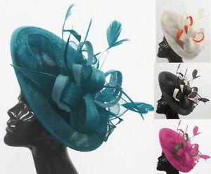 Caprilite Big Saucer Sinamay On Headband Fascinator Wedding Ladies Ascot Hat