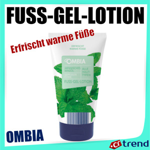 OMBIA Fuss-Gel-Lotion | Japanisches Minzöl, Alle Haut Typen Erfrischt warme Füße