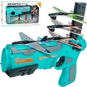 Catapult Plane Toy Foam Blaster Launcher toy gun w/gliders outdoor sport toy UK