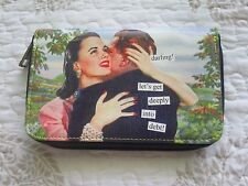 "Anne Taintor Wallet,NEW, ""Darling, lets get deeply in debt"", zippered"