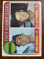 1969 Topps Mike Adamson/ Merv Rettenmund Baltimore Orioles #66 Baseball Card