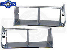 84-87 Regal T Type Headlight Head Light Lamp Door Trim Bezel CHROME Set New