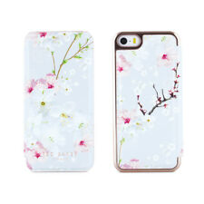 OFFICIAL Ted Baker Floral Women's Mirror Folio iPhone SE Case Oriental Blossom