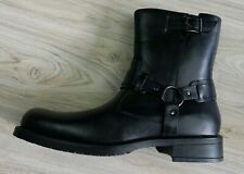 Unlisted Kenneth Cole Men's Black Leather Boots Zip Up Size 13 Buckles Biker