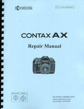 Kyocera Contax AX Camera Service & Repair Manual Reprint