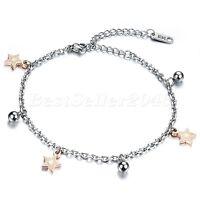 Women Foot Jewelry Star Bead Chain Anklet Ankle Bracelet Barefoot Sandal Beach