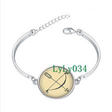Bow and Arrow glass cabochon Tibet silver bangle bracelets wholesale