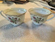 Vintage Kings Court China Coffee Cups (2)  'Rosebud' Pattern Made in Japan