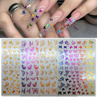 3D Nail Stickers Butterfly Floral Transfer Decals Decorations Nail Art Accessory