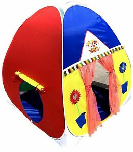 Play Tent House For Kids Of 24 months and up,Multicolor, Free Shipping