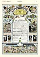 Lambrecht Polymeter XL Reklame von 1903 !!! Barometer Thermometer Göttingen ad