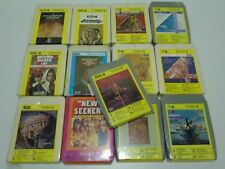 13 Brand New Sealed Vintage Pre Recorded 1970s 8 Track Cartridge Cassette Tapes